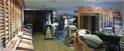 image of the inside of a carpet shop